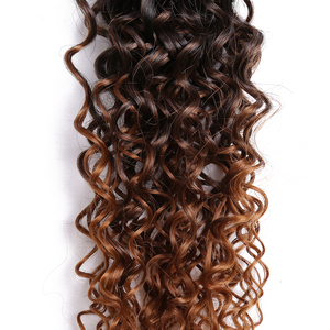 Image 5 - 14 18inch Ombre Burgundy Blonde Synthetic Weave Curly Hair Bundles Sew in Hair Extension For Black Women 6pcs/Pack Golden Beauty