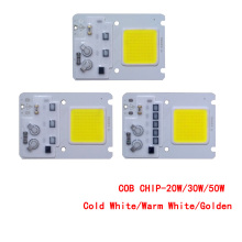 30pcs/lot LED COB CHIP 20W 30W 50W Cold White/Warm White/Golden AC220V Input with Smart IC For DIY Floodlight Outdoor lamp