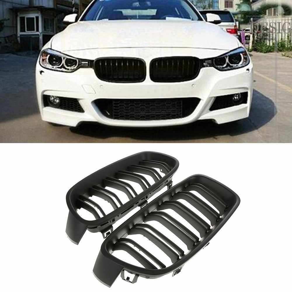High Quality Car Front Grille Replacement Front Sport Kidney Grille Grill for BMW F30 F31 F35 3-SERIES 12-14 Matte Black 3 series carbon front bumper racing grill grills for bmw f30 f31 standard sport 12 16 320i 325i 330i 340i non m3 style car cover