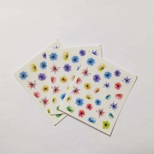3pcs Nail Art Tips Decorations Decals DIY Manicure Slider Embossed Sticker Feathe Adhesive B02
