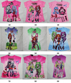 Summer Kids Cartoon T-shirt Girls Tops Tees Kids T-shirt Short Princess Sleeve shirts