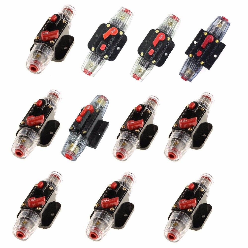 12 V-24 V 20A 30A 40A 50A 60A 80A 100A DC Auto Car Bike Stereo Audio disyuntor reinicio fusible inversor