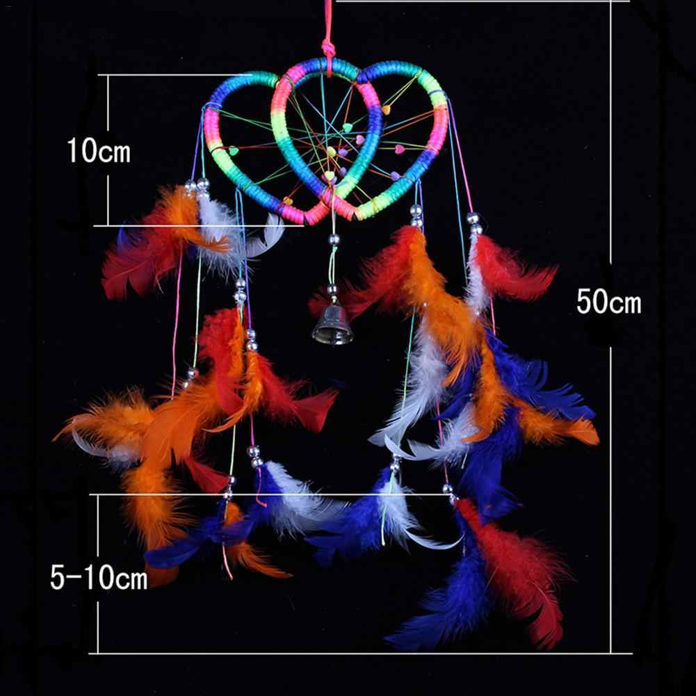 Ловец снов Висячие горячие продажи эксклюзивный двойной персик сердцебиения Monternet колокольчики рождественские украшения для дома