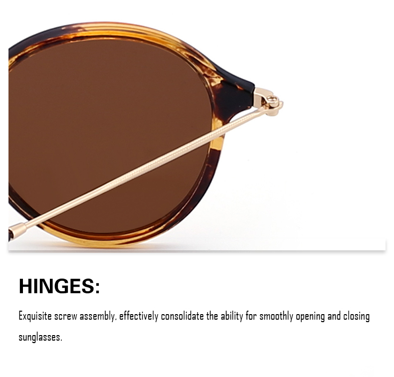 Retro Polarized Round Eyeglasses