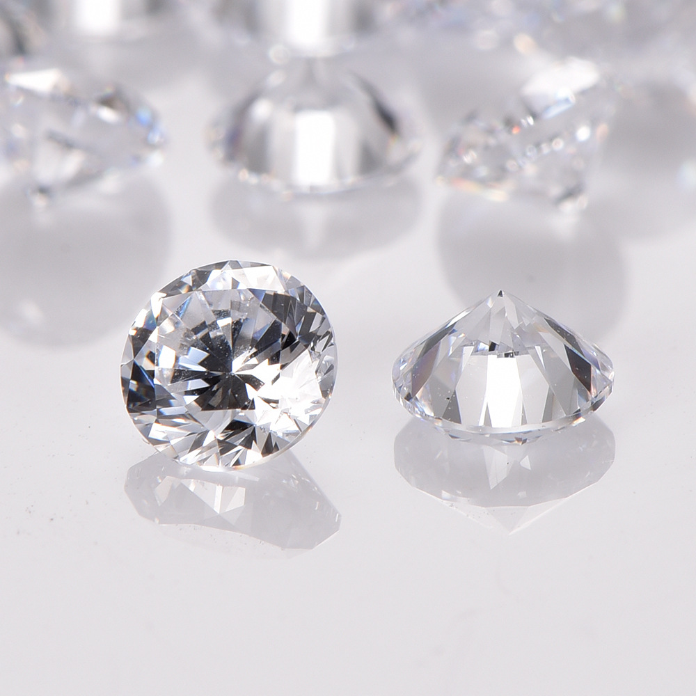 MRHUANG 25pcs/pack 14mm AAA Clear Round Brilliant Cut Cubic Zirconia Stone DIY Loose Beads CZFor Jewelry