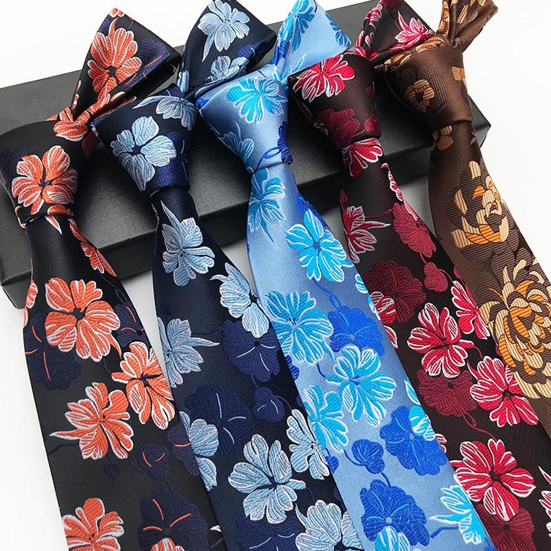 Factory Novelty 8.5CM Classic Cashew Nuts Flowers 100% Silk Mens Ties Floral Accessories Jacquard Woven Men's Necktie Neck Tie
