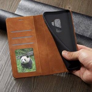 Image 3 - กระเป๋าสตางค์หนังหรูสำหรับ Samsung Galaxy S9 Plus การ์ด GalaxyS9 S9Plus SM G960 G965 SM G965F SM G960F