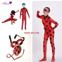 Adult And Kids Cosplay Jumpsuit Cosplay Miraculous Ladybug Costume Women And Girls Bodysuit Halloween Cosplay