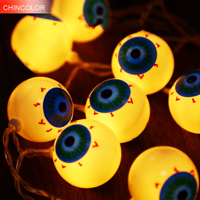 10Led LED Guirlande lumineuse Halloween Vacances lumi¨res Citrouille