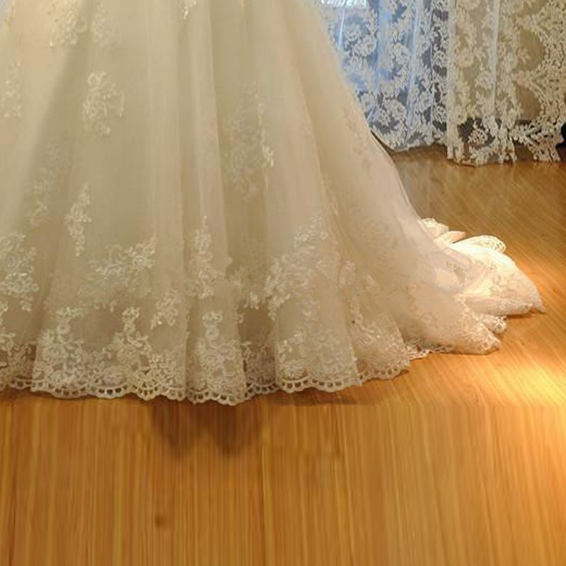Luxury Wedding Dress with Sequined Sweetheart Vestido de noiva Court Train Robe de mariage Mermaid Wedding Gowns