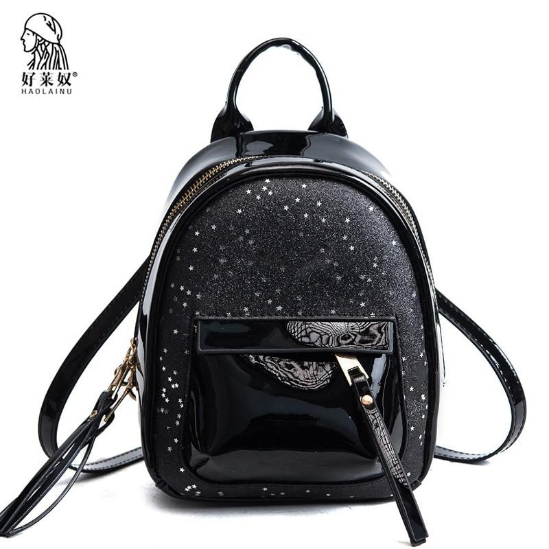 Fashion Mini Women Backpack High Quality PU Leather Backpacks for Teenage Girls Sequins Female School Shoulder Bag Bagpack 2018 цена