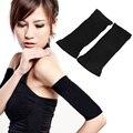 Mulheres slimming arm shaper perda de peso braço shapers shapewear braço shapers preto elástico