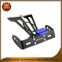 Motorcycle Fender Registration License Plate Mount TailLight LED Holder Bracket For SUZUKI GSXS750 GSX S 750