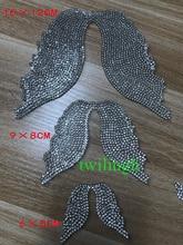 Wing Crystal Children Wings Rhinestone Iron-On Angel Wings for Baby Clothes angel wings rhinestone teardrop necklace