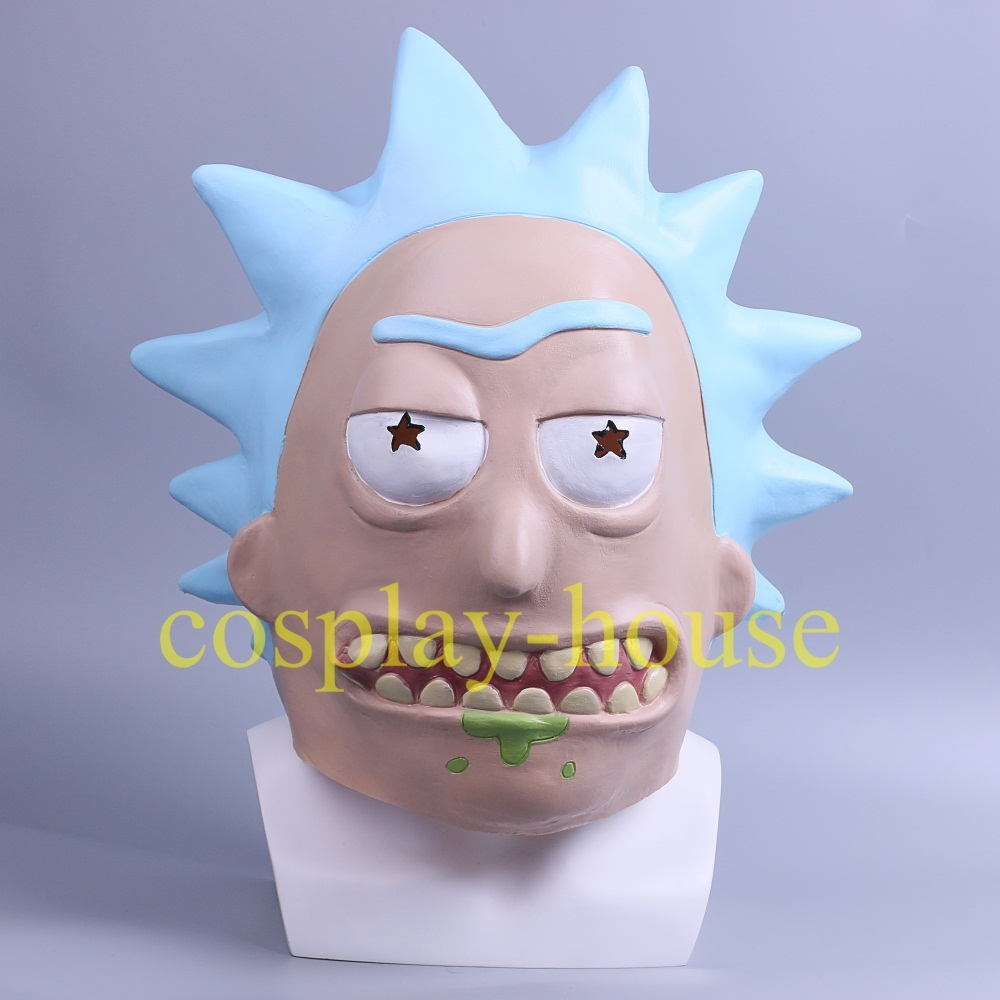 Rick and Morty Mask Cosplay Rick Masks Morty Mask Full Head Halloween Mask New