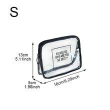 1Pcs Transparent Cosmetic Bag Square Shape Portable Zipper Makeup Storage Bags For Travel