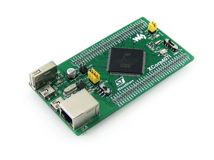 Modules STM32 Board STM32F407IGT6 MCU core board, with IOs, USB, Ethernet, NandFlash Cortex-M4 STM32 Development Board = XCore40 w5500 ethernet network module tcp ip with 51 msp430 stm32 program mcu development board