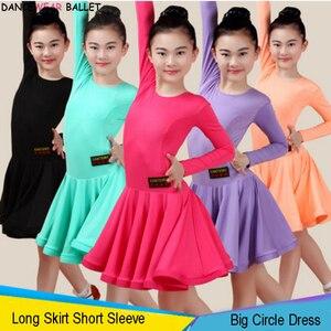 Image 2 - Vestido de baile de salón para niñas, vals, Tango, traje de baile latino, Salsa Bachata