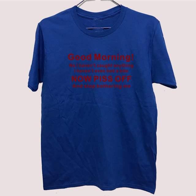 Lustige Fische Fischer Guten Morgen Stop T Shirt Für Männer