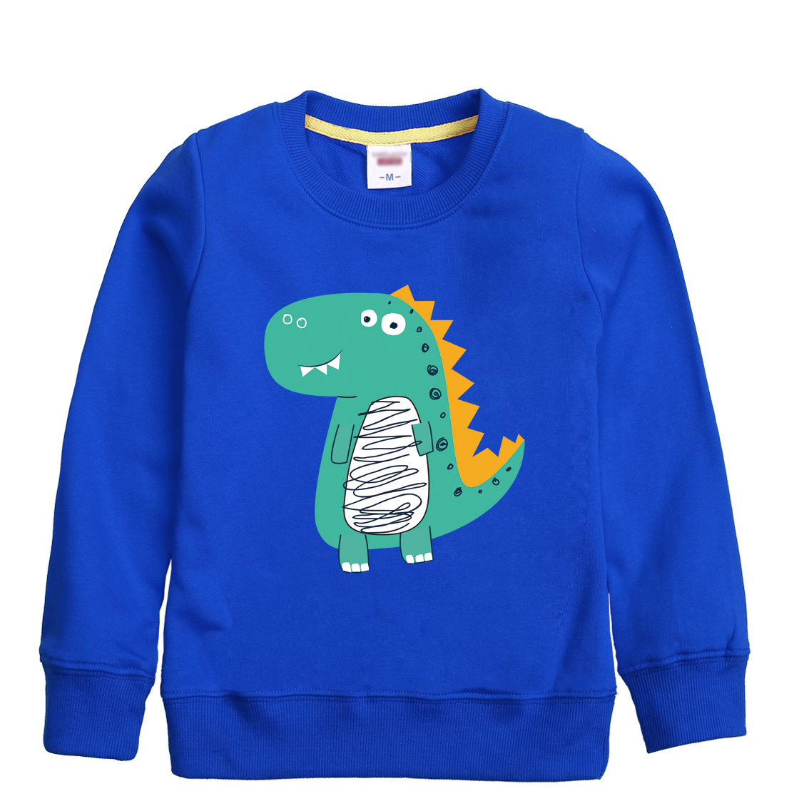 Dinosaur cartoon pattern printed 2018 new fashion winter full sleeve sweatshirt childrens hooded clothing design for girl & boy
