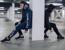 Spring Men Sportswear Tracksuit Letter Print Hoodie Sweatshirt+pant Running Jogger Casual Exercise Workout Outfit Set Sport Suit