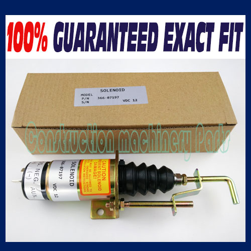 Fast free shipping, NEW DIESEL FUEL SHUT DOWN STOP SOLENOID FOR LISTER PETTER SA3405T-12 12C7U2B2S7 3924450 2001es 12 fuel shutdown solenoid valve for cummins hitachi
