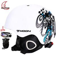 MOON Skateboard Snow Ski Snowboard Helmet Integrally molded Ultralight Breathable Ski Helmet CE Certification S/M/L/XL