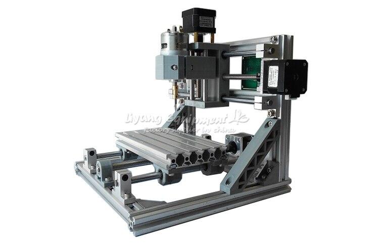 Mini CNC fraiseuse 1610 500 mw laser CNC graveur travail pour pcb bois pvc etc avec contrôle GRBL - 2