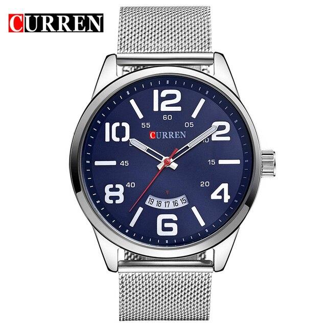 be6779ce23e CURREN Watch Men Fashion Stainless Steel Mens Watches Top Brand Luxury Date Mens  Quartz Watch Male Sport Clock Relogio Masculino