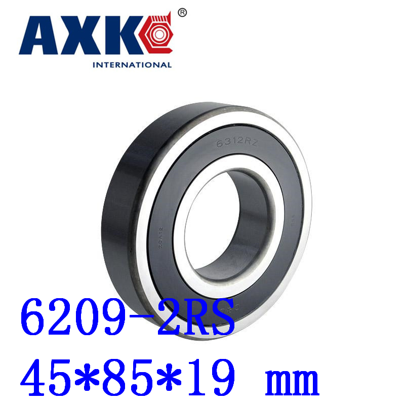 цена на Axk 1pcs Free Shipping Double Rubber Sealing Cover Deep Groove Ball Bearing 6209-2rs 45*85*19 Mm