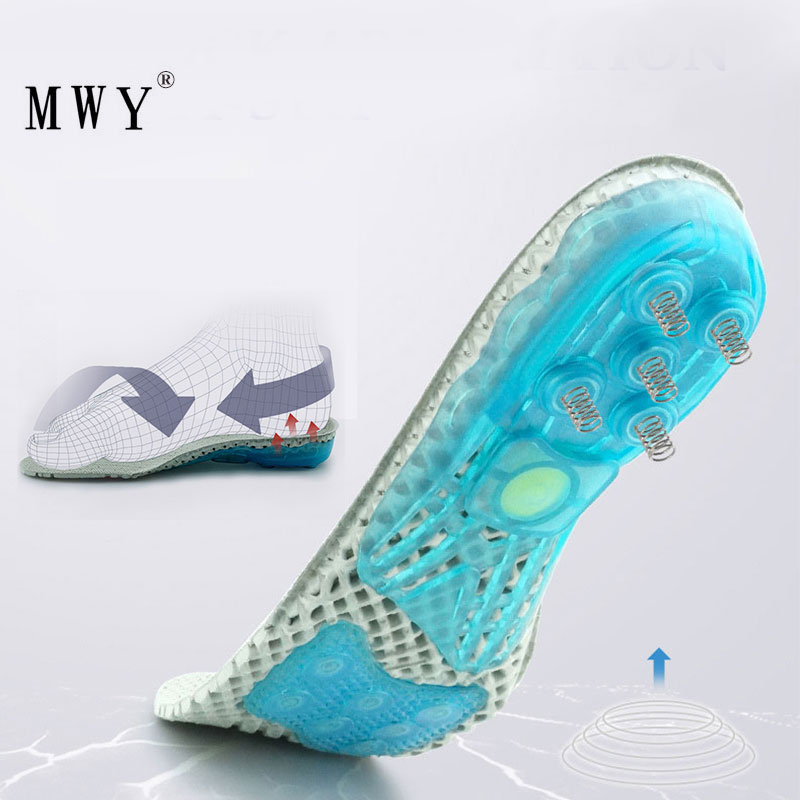 MWY Unisex Insoles For Shoes Super Shock Absorbant Spring Sports Insole Foot Pain Relieve Shoe Insole For Men and Women Shoe Pad in Insoles from Shoes