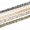Necklace Chains Rhodium/Silver/Gold/GunMetal /Antique Bronze Plated Metal Iron Chain for DIY Jewelry Findings Making 5m/lot