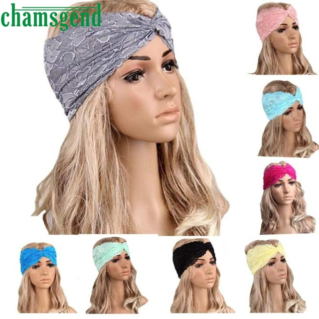 2017 Gym fitness Headbands For Women Winter Sports Headband Head Wrap Wide  Yoga Hairband Hair Accessories Lace Head band JAN13YP 710e1cf1b