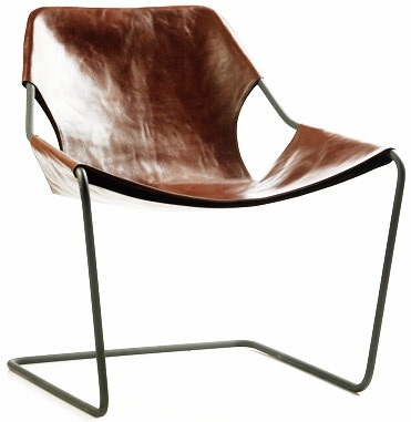 Creative Minimalist Furniture Cafe Chairs Metal Leather Lounge Chair Designer Cloth Paulistano
