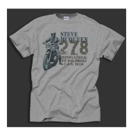 Free Shipping 2018 King Of Cool Biker Steve McQueen Trial Bikes Design 1964 Sporter Grey T