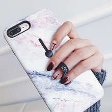 hot deal buy hide ring stand holder phone case for iphone 7 plus marble soft silicon tpu back cover for iphone x xs 8 7 6 6s plus coque