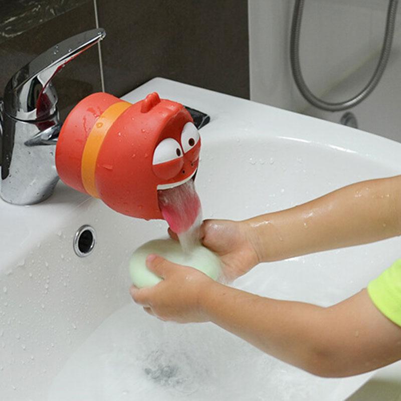 Faucet Extender Help Kids Washing in Bathroom Cartoon Faucet ...