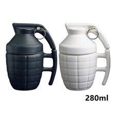 Neue Kreative Granate Drink Tassen Keramik Wasser Kaffee Tee Becher Mit Deckel Deckel Weiß/schwarz 280 ml Geschenke GPD8059