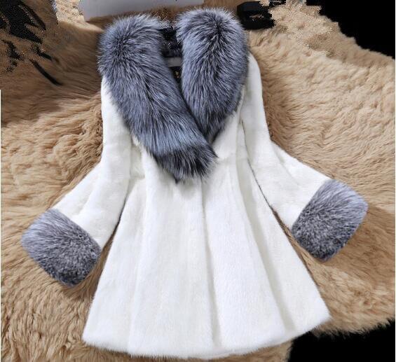 Faux Luxe Manteaux D'hiver noir Chaud Pardessus Fourrures Lisa Manteau Gilet Colly Qualité Outwear Haute Femmes Blanc Veste Fourrure Renard De wxazv6q
