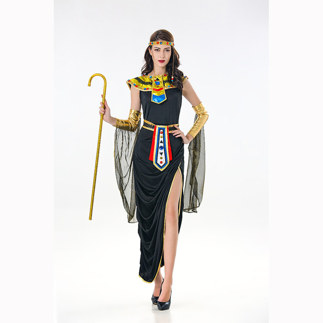 d42a0dbfc Free Shipping Adults Sexy Egyptian Costumes Queen Egyptian Pharaoh  Cleopatra Women Halloween Party Fancy Dress Carnival Costume