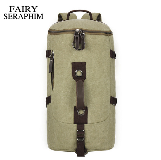 FAIRY SERAPHIM 2017 Large capacity man travel bags mountaineering backpack luxury European canvas bucket shoulder bag large capacity man travel bag mountaineering backpack men bags canvas bucket shoulder bag 012