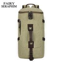 FAIRY SERAPHIM 2017 Large capacity man travel bags mountaineering backpack luxury European canvas bucket shoulder bag