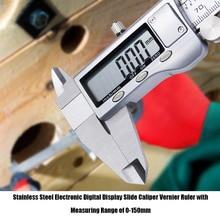 Stainless Steel Electronic Digital Display Slide Caliper Vernier Ruler with Measuring Range of 0-150mm