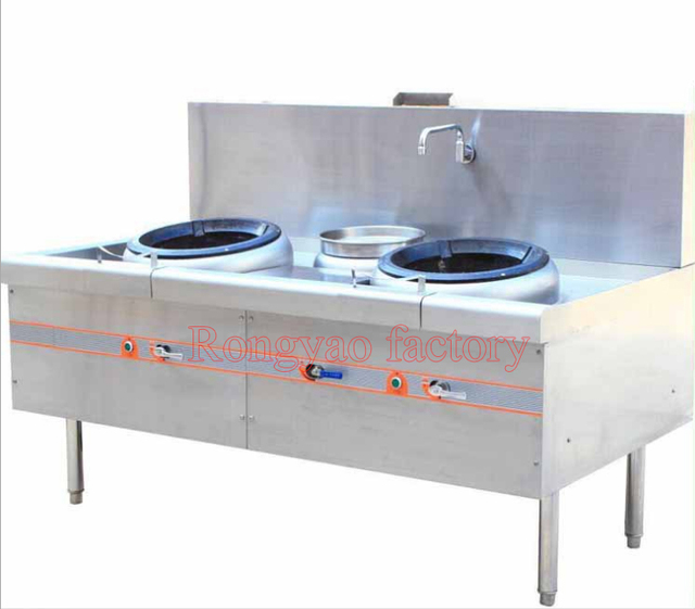 Guangdong style fired dish stove double heads stove, gas catering ...