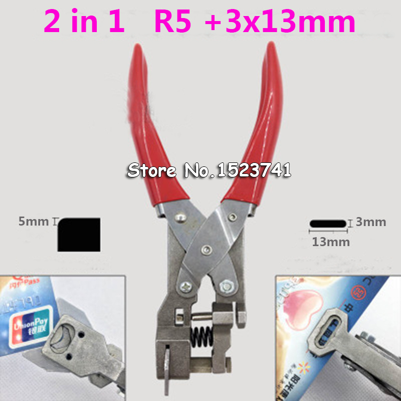 punch paper plastic hand card 5mm 3X13mm hole punch Pliers Hole Hand Held Steel