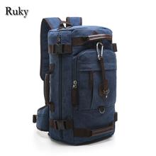 Vintage casual large capacity Rucksack Men's Canvas Backpack MULTIFUNCTION Leisure Travel Backpack Laptop Backpacks bag