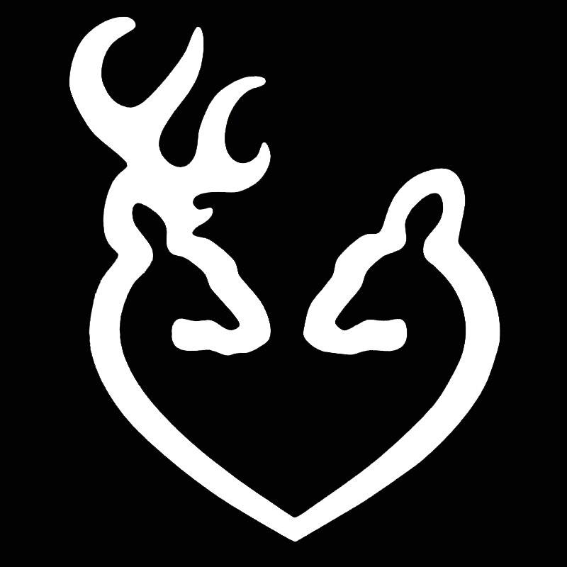 Browning Heart Deer Buck Hunting Doe Country Window Car ...