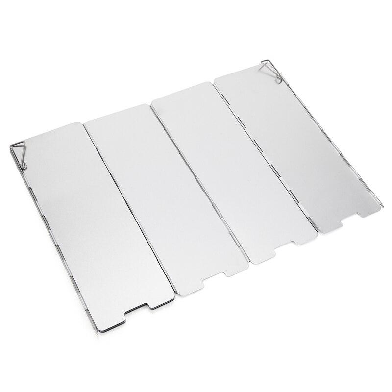 8 тарелок складной Открытый Кемпинг ветрозащитная плита из алюминиевого сплава газовая плита лобовое стекло Пикник Кемпинг Плита горелка в...