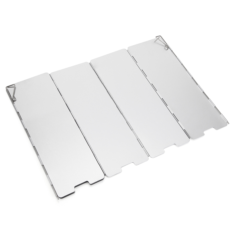 8 Plates Foldable Outdoor Camping Wind Shield Aluminum Alloy Gas Stove Windshield Picnic Camping Cooker Burner Windproof Screen