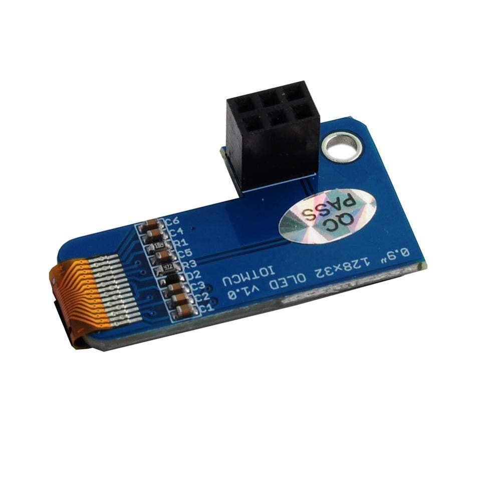 10pcs/lot PiOLED I2C 0 91inch OLED 128x32 SSD1306 Blue for RPI Raspberry Pi  1, B+, Pi 2, Pi 3 and Pi Zero DIYmall